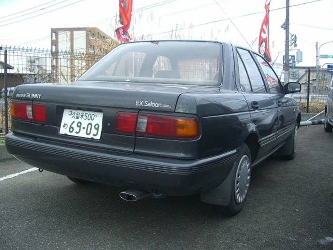 1992/1 Nissan Sunny E-FB13 EX saloon for sale, Japanese ...
